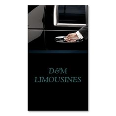 Limo Service Driver, Cab, Taxi Business Card. Make your own business card with this great design. All you need is to add your info to this template. Click the image to try it out!