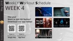 Weekly Workout Schedule, June 3rd, Fun Workouts, How To Plan, Tv, Easy, Television Set, Television