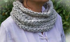 Col Snood double tricoté main : Echarpe, foulard, cravate par la-maille-aux-tresors