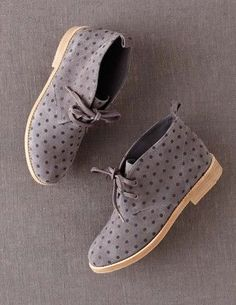 Polka Dot Desert Boot by Boden #flatlay #flatlays #flatlayapp www.flat-lay.com
