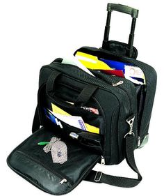 Pacific Business Rolling Laptop Briefcase With Holder