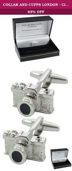 COLLAR AND CUFFS LONDON - Classic HIGH QUALITY SLR Camera Cufflinks - Solid Brass - Perfect For Photography Lovers - Silver Colour - Presentation Gift Box Included. These high quality, hand crafted cufflinks are a brilliant talking point! They are perfect for anyone with an interest in cameras or photography. Silver and black in colour, these cufflinks include a surprising number of components of a classic SLR camera, including the lens, film advance lever, shutter release button and even...