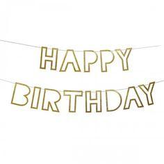 Happy Birthday Garland Bunting By Meri Meri