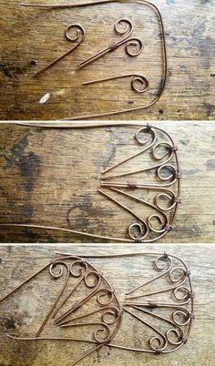 Wire work for the DIY fantasy fairy Daybed. Village Miniature, Miniature Fairy Gardens, Miniature Dolls, Miniature Houses, Fairy Furniture, Fun Crafts, Diy And Crafts, Fairy Shoes, Doll House Crafts