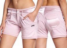 Shorts Bermuda Pantaloncini Freddy Donna Rosa Grigio Danza Fitness Palestra