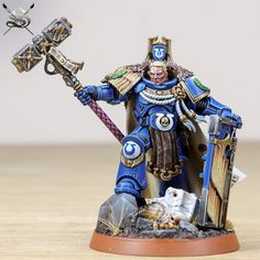 Warhammer 40k Figures, Warhammer Paint, Warhammer Models, Warhammer 40k Miniatures, Warhammer 40000, Ultramarines, Miniature Bases, Painting Services, Mini Paintings