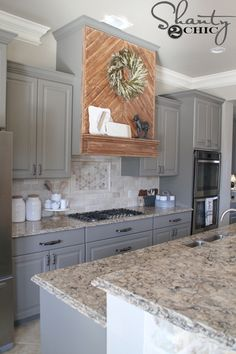 There is no question that designing a new kitchen layout for a large kitchen is much easier than for a small kitchen. A large kitchen provides a designer with adequate space to incorporate many convenient kitchen accessories such as wall ovens, raised. Kitchen Redo, Kitchen Remodel, Kitchen Design, Kitchen Counters, Kitchen Ideas, Kitchen Cabinets, Pantry Ideas, Kitchen Islands, White Cabinets