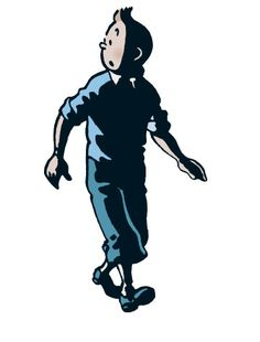 Tintin didn't always have a quiff on his head. During a car chase in his first adventure, Tintin in the Land of the Soviets, the wind blows his hair up, and it stays that way forever after!