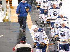 2008 NHL Winter Classic    - Adam Mair leading the boys out on the ice