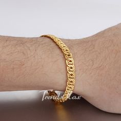 NEW ARRIVAL Yellow Gold Filled Bracelet@Trendsmax