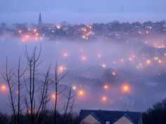 Halifax, NovaScotia in an ethereal fog.
