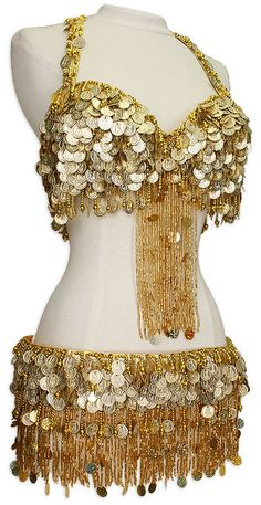 Gold Belly Dance Costume