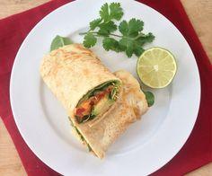 Gluten-free Quinoa Tortilla recipe and the Southwestern Sweet Potato Wrap you can make with it!