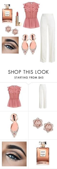 """Formal look"" by miloni-jhaveri on Polyvore featuring Victoria Beckham, Rochas and Chanel"