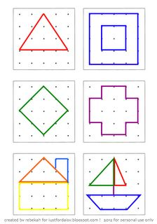 Activity Card Printable for geoboard