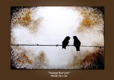 """Summer Rust Love"" Original Art Painting by Shanna"