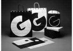 Galerias by Vignelli Studio. Stunning black and white graphics #packaging #design PD
