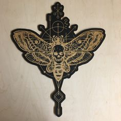 Limited Edition Death's Head Engraved Wall Art