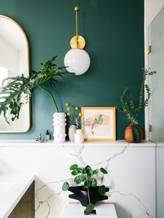 My Master Bathroom Update With Delta® Part 2 Reveal Green bathroom design Bathroom Paint Colors, Shower Remodel, White Rooms, Deco Design, Wall Design, Bathroom Interior Design, Interior Ideas, Amazing Bathrooms, Home Remodeling