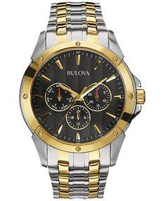 Bulova Men's Two-Tone Stainless Steel Bracelet Watch 43mm 98C120