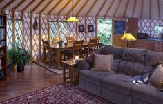 See how our yurts blend beautifully into any postcard setting. Visit our yurt gallery page to view our photo albums: