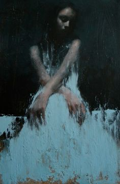 Mark Demsteader, Study for the Calling  Oil on Canvas, 24ins x 32ins