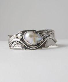 'Flameball' Pearl...Marksz Jewelry of Palm Beach #SterlingSilverCuff