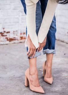 Barra da calça dobrada