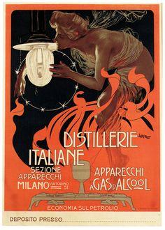 unfolding:    Distillerie Italiane (by paul.malon)  1890s poster by Leopoldo Metlicovitz.