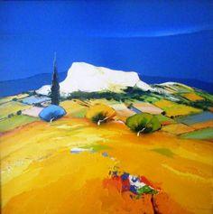 PEINTURE : CHRISTIAN EURGAL - LA ROUTE DU PECH Landscape Artwork, Abstract Landscape, Galerie D'art, Sculpture, Palette Knife, Scenery, Arts And Crafts, Minimalist, Christian