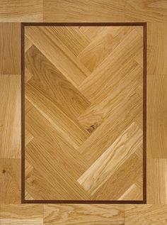 Clear Oil with Walnut Insert parquet block flooring