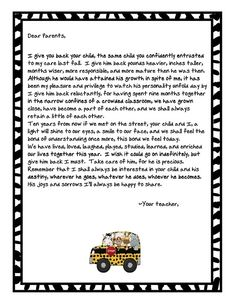 End of the year letter to parents by amber.williams.12327608