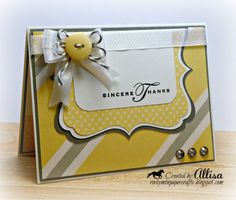 Rocky Mountain Paper Crafts: Yellow thanks