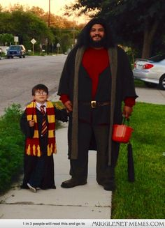 Harry and Hagrid. Their scale compared to each other is breathtakingly accurate. LOL