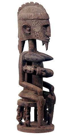 Dogon Maternity Figure 15, Mali - Exhibiting a wide diversity in size, symbolism, intimacy and style., African maternity figures depict the ideals of beauty, fertility, character and action and many signify much more, whether the primordial mother or a legendary founding ancestor. Commonly used as shrine figures, they were often objects of petitions or prayers for fertility and successful births. The prevelance of the maternity theme testifies to the importance of women and children to the…