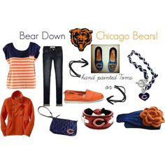 """""""Bear Down Chicago Bears!"""" by addeo on Polyvore  AWESOME!!!!!!!!!!!!!!!!!!!!!!!!!!!!!!!!!!!"""