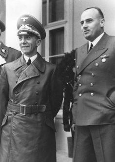 Joseph Goebbels with Hans Frank