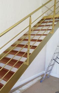 Gold Curtain Rods, Gold Curtains, Stairs, Home Decor, Stairway, Decoration Home, Room Decor, Staircases, Home Interior Design
