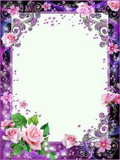 Photo frames - Pink roses in lilac haze Frame Border Design, Page Borders Design, Photo Frame Design, Photo Frame Wallpaper, Framed Wallpaper, 2 Clipart, Frame Clipart, Picture Borders, Boarders And Frames