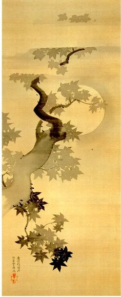 SAKAI Houitsu (1761-1829), Japan 酒井抱一 Chinese Painting, Chinese Art, Japan Painting, Ink Painting, Asian Artwork, Illustrations, Illustration Art, Art Chinois, Tinta China