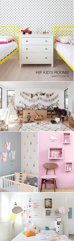 Hip Kid's Rooms I wish I lived In