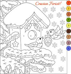 Color by Number Adult Coloring Books Beautiful Pin by Nancy Peters On Winter Christmas Color by Number Snowman Coloring Pages, Fall Coloring Pages, Christmas Coloring Pages, Animal Coloring Pages, Coloring Pages To Print, Free Printable Coloring Pages, Free Coloring, Adult Coloring, Coloring Books