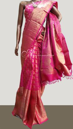 7f893c1f63 Beautiful pink bridal saree from aavaranaa - www.aavaranaa.com