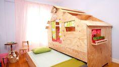 Una Cabaña De Madera En La Habitación : Compartimos Un Fabuloso Proyecto De  Decoración Infantil. Realizado Por El Equipo Del Programa Decogarden.