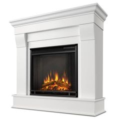 Get all the cozy and none of the hassle with the Real Flame Silverton Electric Fireplace – Dark Mahogany . This beautiful electric fireplace offers. Fireplace Mirror, Concrete Fireplace, Faux Fireplace, Modern Fireplace, Fireplace Mantels, Fireplace Ideas, Black Fireplace, Cabin Fireplace, Fireplace Decorations