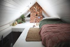 tiny loft conversion & artemis russell Source by misty_hayter The post tiny loft conversion Small Loft Bedroom, Small Loft Spaces, Small Attic Room, Attic Bedroom Designs, Small Attics, Attic Loft, Loft Room, Attic Design, Attic Rooms