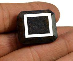 94ct Natural Rectangular Shape Blue Sapphire Earthmined Loose Gemstone