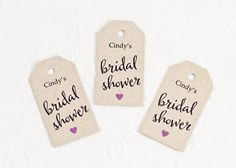 Bridal Shower Favor Tag Party Favor Gift Tag by WeddingAmbience