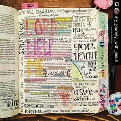 @my_journey_with_jesus Jessica so pretty! Beautiful work  . Check out @my_journey_with_jesus to see more pretty work that will inspire and be sure to give her a follow too.  . #Repost @my_journey_with_jesus with @repostapp.  Matthew 15 so much to take in!  #iloveit #praisethelord #heisgood #biblejournaling #biblejournalingcommunity #journalingbible #illustratedfaith by communityofchristiancreatives