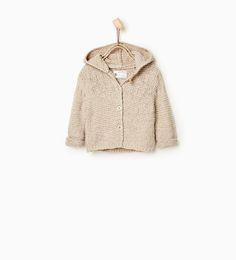 Image 1 of Cardigan with hood and ears from Zara